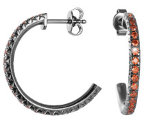 Damen-Ohrstecker 925 Sterling Silber rhodiniert Kristall Zirkonia brilliance orange orange ESER92327G000