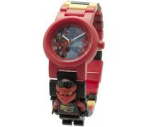 LEGO Unisex-Armbanduhr Ninjago Sky Pirates Kai Analog Quarz Plastik 8020547