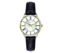 -Damen-Armbanduhr-PC901732F03, Silber/Gold/Braun