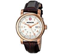 Damen-Armbanduhr XS URBAN CLASSIC PVD Analog Quarz Leder 01.1021.108