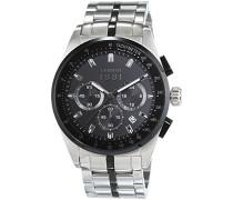 Cerruti 1881 Herren-Armbanduhr XL VELIERO Analog Quarz Edelstahl CRA089A221G