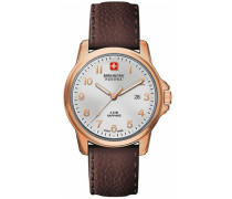 Herren-Armbanduhr XL SWISS SOLDIER PRIME Analog Quarz Leder 06-4141.2.09.001