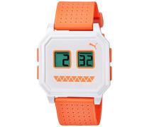 Damen-Armbanduhr Wrist robots white Digital Quarz Kautschuk PU910951015