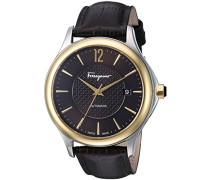 Salvatore Ferragamo Time Herren Automatikuhr mit braunem Zifferblatt und braunem Lederband FFT030016