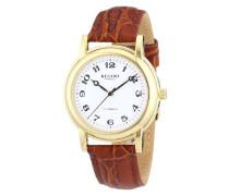 Herren-Armbanduhr XL Analog Handaufzug Leder 11010019
