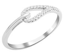 Damen-Ring 9 Karat (375) Weißgold Diamant (0,09 ct-MKW9014R2 Größe 52