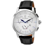 Men'Herren Armbanduhr Chronograph Leder schwarz SC0228