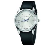 CK Herren-Armbanduhr XL Analog Quarz Leder K5A311C6