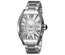 Collection Herren-Armbanduhr Hestia Pure Silver Analog Quarz Edelstahl