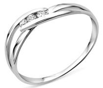 Damen-Ring 375 Weißgold mit Brillant MA940RO
