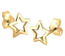 Damen Ohrringe 925 Sterling Silber vergoldet 03201505