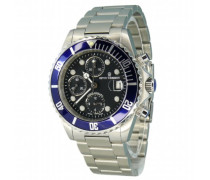 Herren-Armbanduhr XL Diver Chronograph Automatik Edelstahl 17571.6135