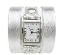 Collection Damen-Armbanduhr Analog Silber weiss LMMTW1002
