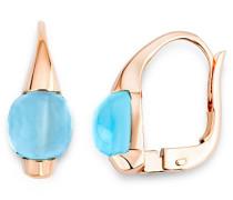 Miore Damen-Ohrringe 9 Karat (375) Rosegold Blau MNA9016E