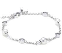 Damen-Armband Bridal 925 Silber rhodiniert Zirkonia Brillantschliff weiß 17 cm - 64/0464/1/111