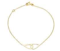 Miore Damen-Armband Halskette 375 Gelbgold 18 cm - MGM908B