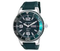 Jet Set-J55454-01-Wb30-Armbanduhr-Quarz Analog-Zifferblatt Grün Armband Gummi grün