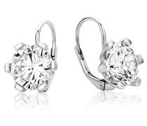 Damen-Ohrhänger 925 Sterling Silber Zirkonia