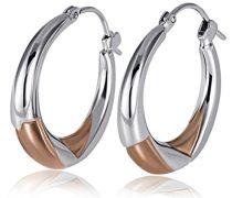 Goldmaid Damen-Ohrringe 375 Weißgold Bicolor
