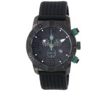 Herren-Armbanduhr XL Black Chrono  Silikon BM521-622C