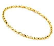 Damen-Armband Gliederkette 9 Karat (375) Gelbgold 1,5g 19cm CDMC887