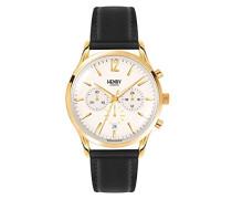 Unisex-Armbanduhr Westminster Chronograph Quarz Leder HL41-CS-0018