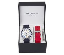Herren-Armbanduhr Analog Quarz Silikon NAI13502G