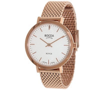 Boccia Damen-Armbanduhr Analog Quarz Edelstahl beschichtet 3246-07