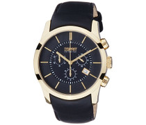 Collection Herren-Armbanduhr Eros Chrono Chronograph Quarz Leder EL101741F04