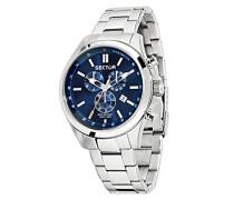 Herren-Armbanduhr 180 Chronograph Quarz Edelstahl R3273690009
