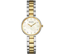 Diamond 98S146 - Damen Designer-Armbanduhr - Edelstahl - Goldfarben