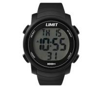 Limit Unisex Digital Uhr mit LCD Zifferblatt Digital Display und schwarz Kunststoff Gurt 6964.24