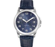 Herren-Armbanduhr Analog Quarz Blau 610725