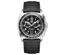P-38 LIGHTNING Herren-Armbanduhr Chronograph Quarz Leder - XA.9441