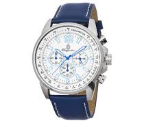 Armbanduhr für Herren mit Analog-Anzeige, Quarz-Uhr und Lederarmband - Wasserdichte Herrenuhr mit zeitlosem, schickem Design - klassische Uhr für Männer - BM608-183 Washington