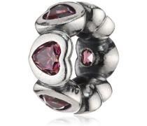 Damen-Bead 925 Sterling Silber Zirkonia rosa 791252CZS