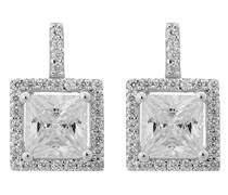 Damen-Ohrstecker 925 Silber rhodiniert Zirkonia Brillantschliff weiß - ZO-6046