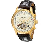 Armbanduhr für Herren mit Analog Anzeige, Automatik-Uhr und Lederarmband - Wasserdichte Herrenuhr mit zeitlosem, schickem Design - klassische Uhr für Männer - BM330-275 Malabo