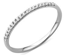 Damen-Ring Memoire  375 Weißgold mit Brillanten 0,09ct MP9011RO