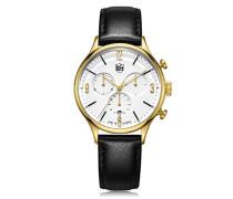 Unisex-Armbanduhr Analog Quarz Leder Van Der Rohe Chrono DF-9002-04