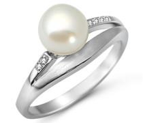 Miore Damen Ring Perle 925 Sterling Silber Zirkonia Gr.58 MSM145RR