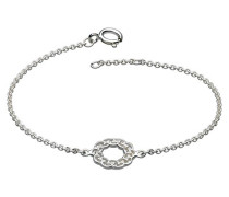 Armband Sterling-Silber, Motiv: Keltischer Kranz, Länge 17,8–18,4cm
