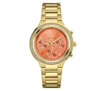 Caravelle New York Damen-Armbanduhr Chronograph Quarz Edelstahl 44L218