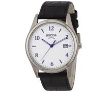 Herren-Armbanduhr XL Analog Leder 3562-01
