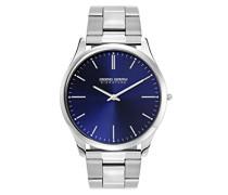 Herren-Armbanduhr XL Analog Quarz Edelstahl JGS2550B