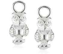 Heartbreaker Damen- Ohring Einhänger für Creolen 925 Silber Eule LD MR 39