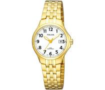 Uhren Damen-Armbanduhr XS Klassik Analog Quarz Edelstahl beschichtet PH7224X1