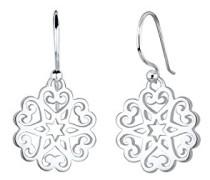 Damen-Ohrhänger Herz Sterne Ornament 925 Silber - 0301132417
