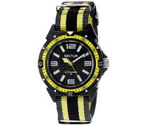 Uhr mit Miyota Uhrwerk Expander 90 schwarz/gelb 44  mm