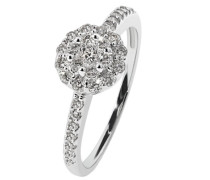 Damen-Ring Glamourfassung Weiss Gold 750 31 Diamanten 0,5 ct.